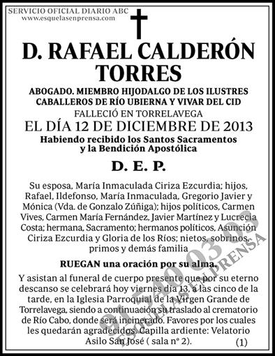 Rafael Calderón Torres